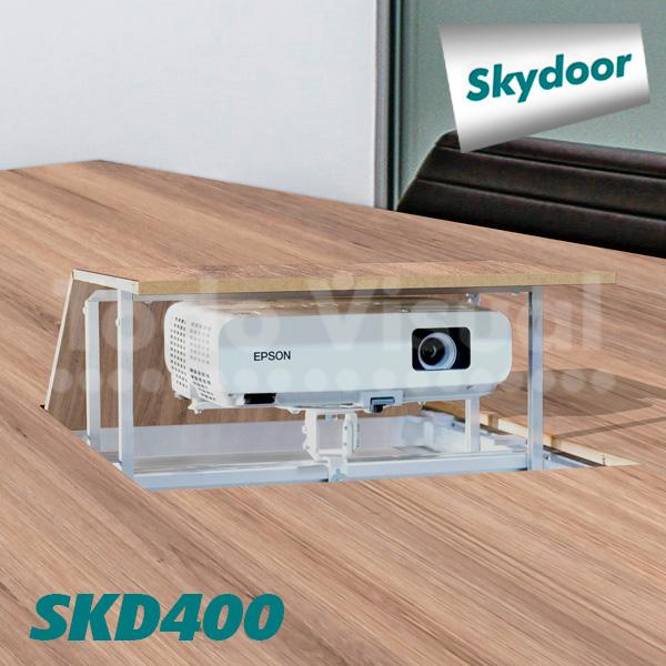 SOPORTE MOTORIZADO SKYDOOR (R) SKD400 MESA TODOVISUAL