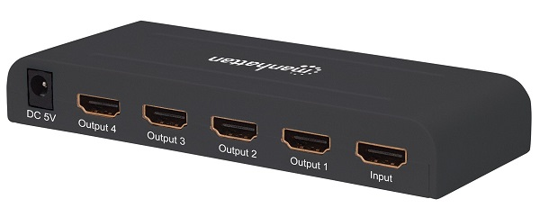 AMPLIFICADOR HDMI 4 SALIDAS 4K MANHATTAN