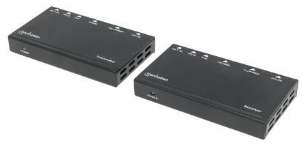 EXTENSOR VIDEO HDMI 4K, 40M/70M VIA CAT6 MANHATTAN