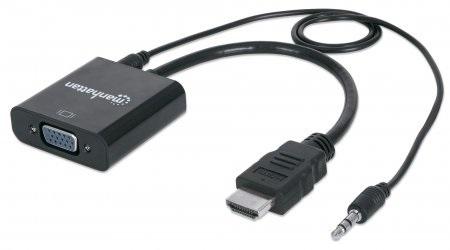 CONVERTIDOR HDMI MACHO A VGA HEMBRA AUDI MANHATTAN