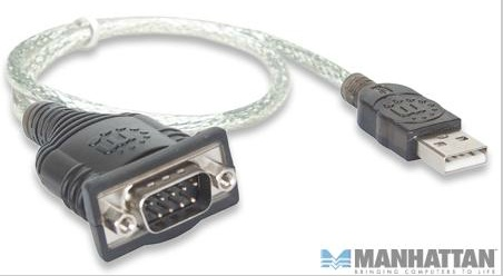 CONVERTIDOR USB A SERIAL MANHATTAN