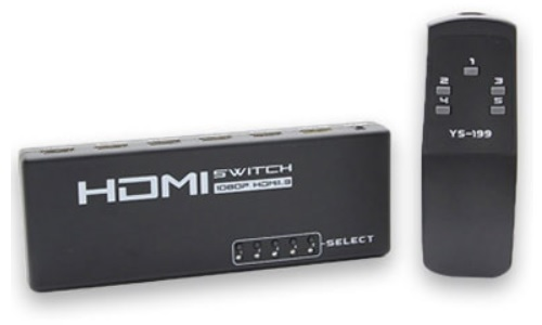 SWITCH 5X1 HDMI C/REMOTO GENERICO
