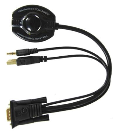 CONVERTIDOR VGA CON AUDIO A HDMI GENERICO