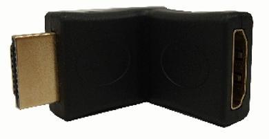 ADAPTADOR COPLE HDMI MACHO-HEMBRA 180? GENERICO