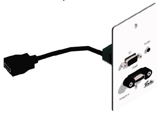PLACA METALICA HDMI-VGA Y 3.5MM