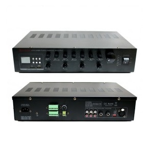 AMPLIFICADOR 120W, USB/SD, 2 MIC, 70V/OH REDLEAF