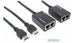 EXTENSOR HDMI 1.2 DOS UTP CAT5E/CAT6 30M MANHATTAN