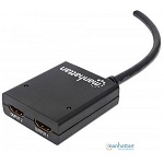 AMPLIFICADOR HDMI 2 SALIDAS CON CABLE MANHATTAN