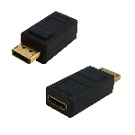 ADAPTADOR DISPLAY PORT MACHO-HDMI HEMBRA GENERICO