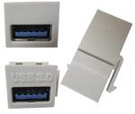 INSERTO USB A (H) - A (H) V 3.0 NEGRO GENERICO