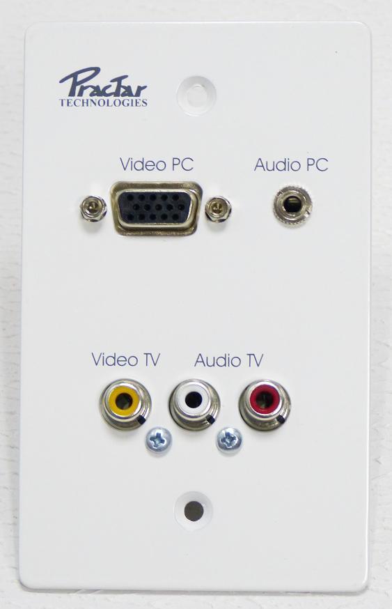 PLACA METALICA VGA AV RCA Y 3.5MM